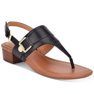 NEW Tommy Hilfiger Keely Black Sandal Thongs